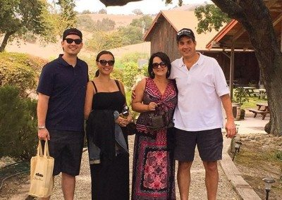couples visiting a winery