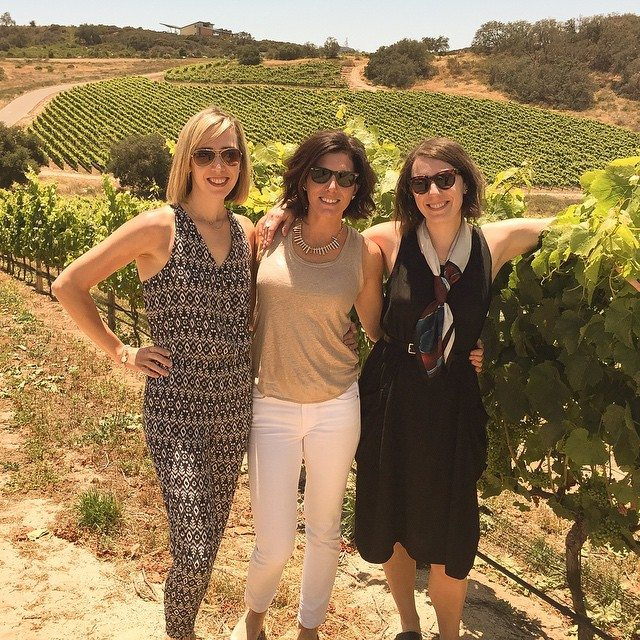 women visiting a winery