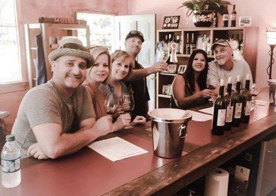 inside winery